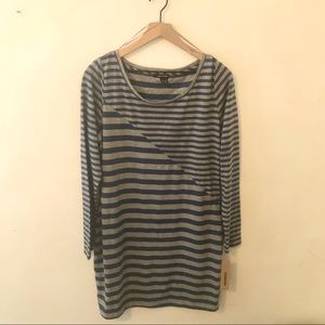 DKNY JEANS Long Sleeve Striped Dress